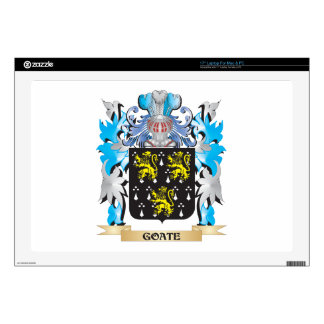 "Goate Coat of Arms - Family Crest Decal For 17"" Laptop"