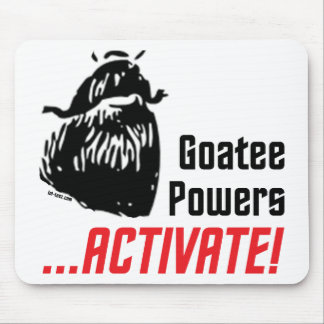 Goatee Powers Mouse Pad