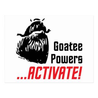 Goatee Powers Postcard