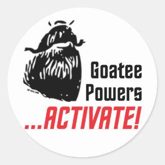 Goatee Powers Sticker