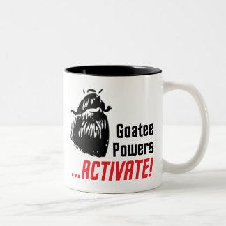 Goatee Powers Two-Tone Coffee Mug