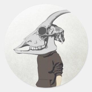 goathead round sticker