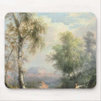 Goatherds in mountainous Spanish landscape Mouse Pad