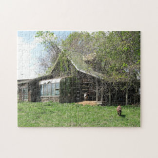 Goats and cabin jigsaw puzzle