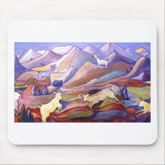 Goats and mountains mouse pad