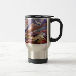 Goats and mountains travel mug