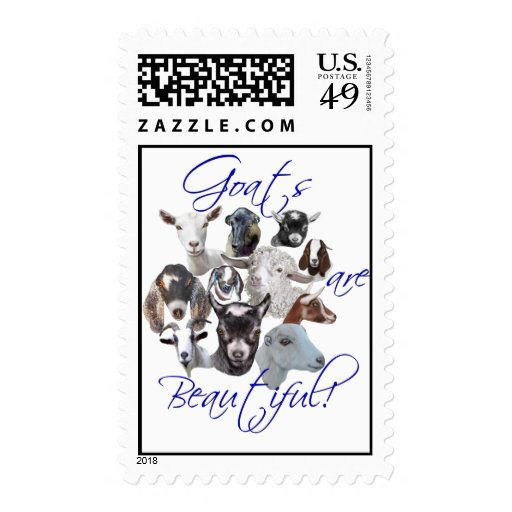 Goats are Beautiful Postage