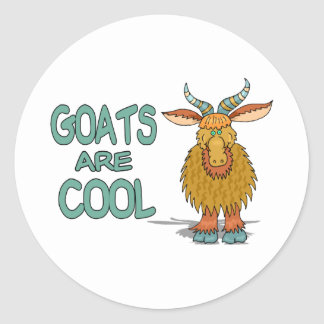 Goats Are Cool Classic Round Sticker