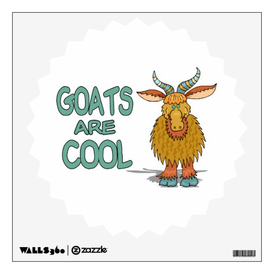 Goats Are Cool Wall Sticker
