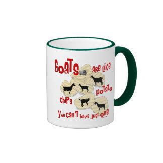 Goats are Like Potato Chips Ringer Mug
