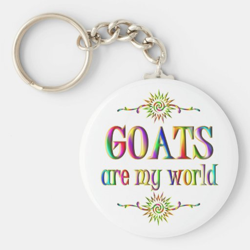 GOATS are my world Basic Round Button Keychain