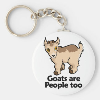 Goats are People too Keychain