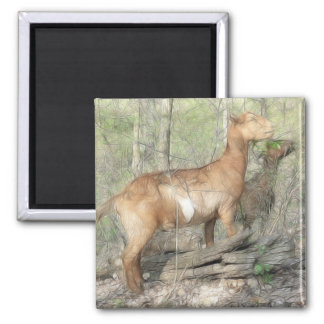 Goats At Work 2 Inch Square Magnet