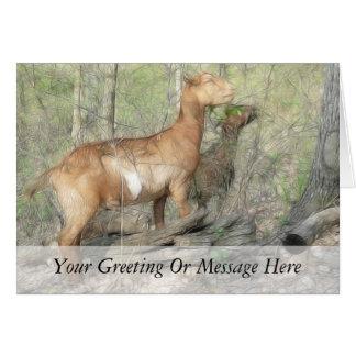 Goats At Work Card
