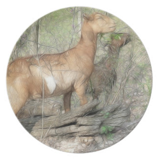 Goats At Work Melamine Plate