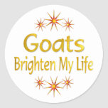 Goats Brighten My Life Stickers