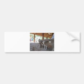 goats bumper sticker