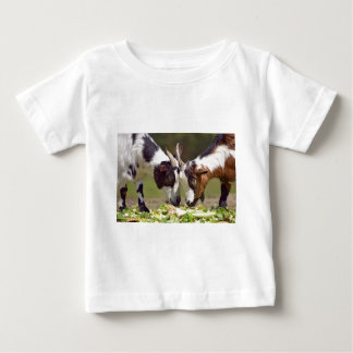 Goats eating vegetable baby T-Shirt