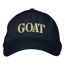 GOATS EMBROIDERED BASEBALL HAT