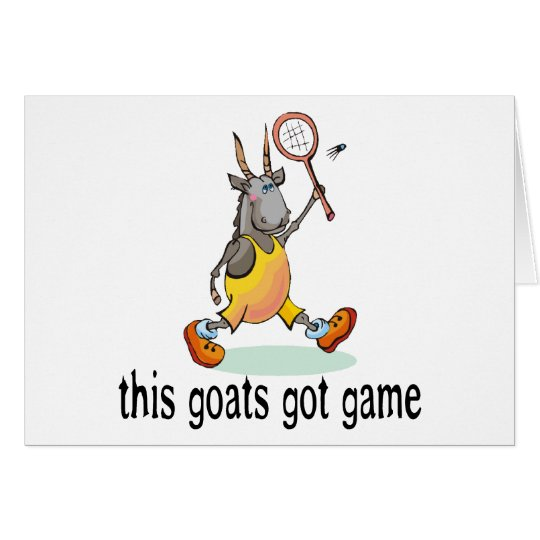 Goats Got Game Card