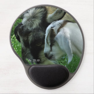 Goats-Gracie & kid- personalize if desired Gel Mouse Pad