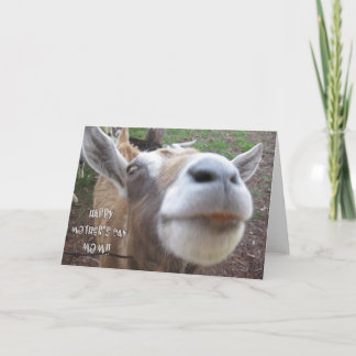 Goat's Happy Mother's Day Card