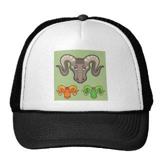 Goats Head Curled Horns Vector Trucker Hat