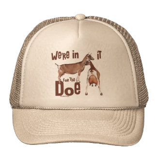 Goats In it for the Doe Dairy Goat Gifts Trucker Hat