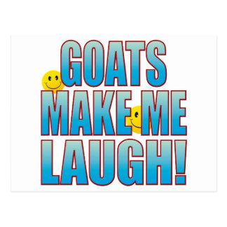 Goats Laugh Life B Postcard
