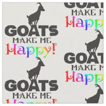 Goats Make Me Happy Fabric