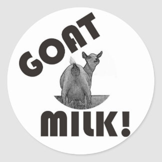 GOAT'S MILK - IT'S THE OTHER DAIRY! CLASSIC ROUND STICKER
