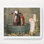 Goats need baths too mouse pad