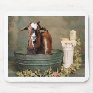 Goats need baths too mouse pad