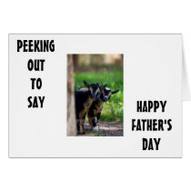 GOATS PEEK OUT TO SAY **HAPPY FATHER'S DAY** CARD