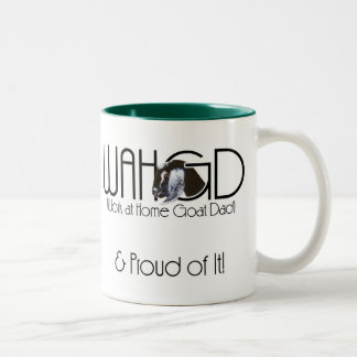Goats Pet Farm Animal Nubian Goat Work at Home Dad Two-Tone Coffee Mug