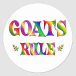GOATS RULE CLASSIC ROUND STICKER