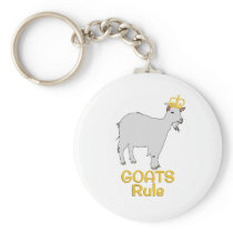 Goats Rule Golden Crown Keychain