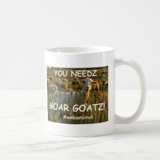goatz moar taza básica blanca