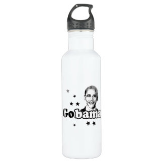 Gobama- Faded.png 24oz Water Bottle