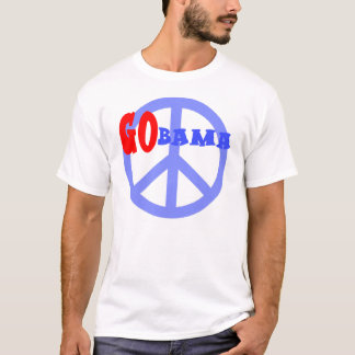 GOBAMA with Peace Sign Obama 2008 T-Shirt