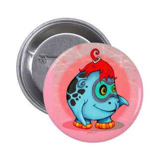 GOBBI ALIEN MONSTER CARTOON Round Button 2¼ Inch