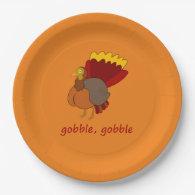 gobble gobble 9 inch paper plate