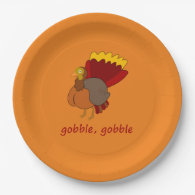 gobble gobble 9 inch paper plate