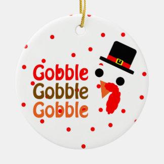 Gobble, Gobble, Gobble Christmas Tree Ornament