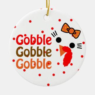 Gobble, Gobble, gobble Christmas Tree Ornaments