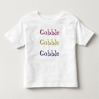Gobble, Gobble, Gobble Thanksgiving Toddler Shirt