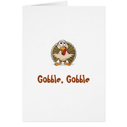 Gobble, Gobble Greeting Card