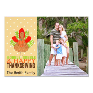 Gobble Gobble & Happy Thanksgiving Card