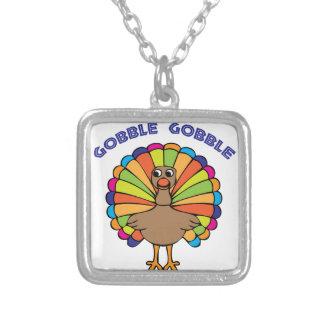 Gobble Gobble Square Pendant Necklace