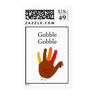 Gobble Gobble Postage Stamp